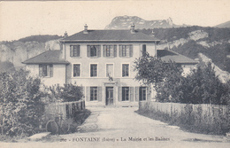 38. FONTAINE CPA. LA MAIRIE ET LES BALMES. ANNEE 1917+TEXTE. - Grenoble