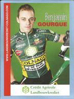 Namur (Namur) Benjamin Gourgue 2 Scans Crédit Agricole Landbouwkrediet-Colnago 2009 - Cyclisme
