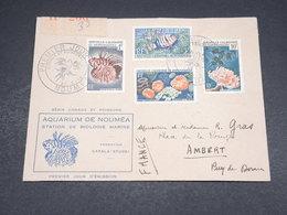 NOUVELLE CALEDONIE - Enveloppe FDC ( Aquarium De Nouméa) En Recommandé De Nouméa Pour Ambert En 1959 - L 18568 - FDC