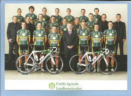 2 Scans Crédit Agricole Landbouwkrediet-Colnago 2009 (Crelan) Cycling Team - Cyclisme