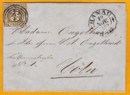 1859 - Lettre Avec Correspondance De Hanau Vers Coln Via Frankfurt - Tours Et Taxis - Affrt  3 Silb.Grosch - Thurn Und Taxis