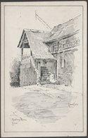 Edward Eyres - Reading Room, Looe, Cornwall, 1919 - Keast Postcard - England