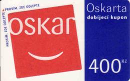 Czech Republic, Oscar /now Vodafone/ Voucher 400 Kč, Plastic Card - Tchéquie
