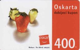 Czech Republic, Oscar /now Vodafone/ Voucher 400 Kč, Plastic Card, Strawberries - Tchéquie