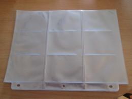A Prix Cassé !!! Lot De 10 Pochettes (neuves) De Classement En Plastique Transparent Pour Mettre 9 Cartes - Material