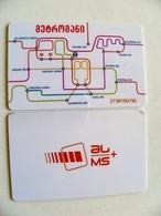 Transport Ticket From Georgia Tbilisi City Plastic Card Metro Subway + Bus - Subway