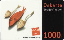 Czech Republic, Oscar /now Vodafone/ Voucher 1000 Kč, Plastic Card, Fish - Tchéquie