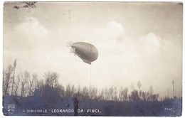 1910 Zeppelin, Leonardo Da Vinci, Ansichtskarte Milano Nach Lugano - 1900-44 Victor Emmanuel III.