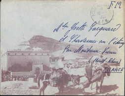 Guerre D'Algérie Enveloppe Illustrée Jomone FM CAD Poste Aux Armées AFN 16 1 57 SP 07 447 AFN - Storia Postale