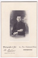 Ancienne Photo Portrait Homme Militaire  (A. Morfoisse, Cherbourg, Médaille D'Or Paris 1912) - Persone Anonimi