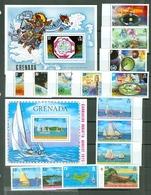 Grenada  490-506 Meteorological Yachting Regatta Set Souvenir Sheet Block MNH WYSIWYG 1973 A04s - Grenada (1974-...)