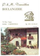 Calendrier Dépliant Boulangerie Travaillon, Carpentras - Calendriers