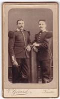 Ancienne Photo Portrait Format CDV Deux Hommes Militaires (V. Girard, Nantes) - Personnes Anonymes