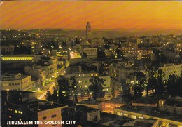 JERUSALEM THE GOLDEN CITY. PARTIAL VIEW AT NIGHT. PALPHOT. CIRCA 1979. CIRCULEE TO BUENOS AIRES. ISRAEL.-BLEUP - Israël