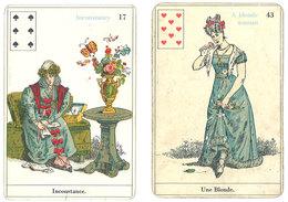 2 Cartes à Jouer ( ? ), 8 Coeur & 6 Pique, A Blonde Woman / Inconstance   ( VP ) - Cartes à Jouer Classiques