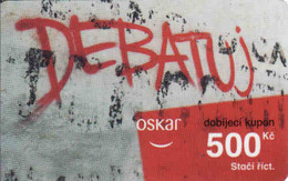 Czech Republic, Oskar /now Vodafone/ Vouchers 500 Kč, Plastic Card, - Czech Republic