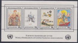 Nations Unies New-York BF N° 9 XX  40 ème Anniversaire De La F.M.A.N.U.. , Le Bloc Sans Charnière, TB - Ungebraucht