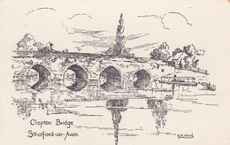 STRATFORD ON AVON - CLOPTON BRIDGE - Stratford Upon Avon