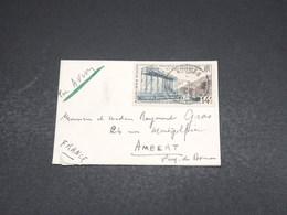 NOUVELLE CALÉDONIE - Enveloppe De Nouméa Pour Ambert En 1958 , Affranchissement Plaisant - L 18593 - Neukaledonien