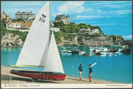 The Harbour, Newquay, Cornwall, 1964 - John Hinde Postcard - Newquay