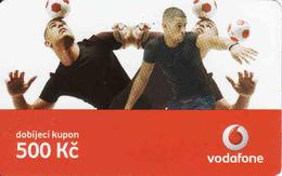 Czech Republic, Vodafone Voucher 500 Kč, Football - Tchéquie