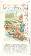 Cpa Petit Format La Vie Au Maroc - Un Lavoir Près De Koutoubia, Préparation Des Peaux De Maroquin - Maroc