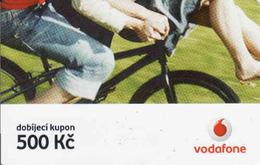 Czech Republic, Vodafone Voucher 500 Kč, Bike - Tchéquie