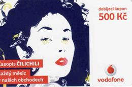 Czech Republic, Vodafone Voucher 500 Kč, - Czech Republic