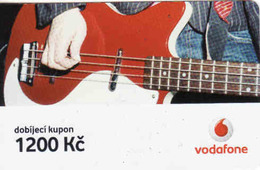 Czech Republic, Vodafone Voucher 1200 Kč, - Tchéquie