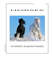 Suplemento Filkasol TEMATICA CABALLOS 2005 - Ilustrado Color Album 15 Anillas 270x295 Mm. - Álbumes & Encuadernaciones