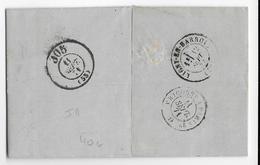 BUREAU DE PASSE De LIGNY EN BARROIS N°305 - 1871 - LETTRE De CHAMPIGNEULLES (MEURTHE ET MOSELLE) - 1849-1876: Période Classique