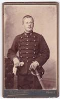 Ancienne Photo Portrait Format CDV Homme Militaire (A. Laroche, Vannes) - Personnes Anonymes