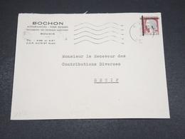 ALGÉRIE - Enveloppe Commerciale De Sétif Pour Sétif En 1962 , Affranchissement Decaris Surchargé EA - L 18610 - Algérie (1962-...)