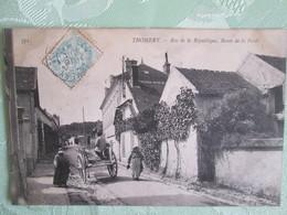Thomery .rue De La Republique . Route De La Foret . Attelage - Other Municipalities