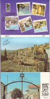 SAFAD, ISRAEL. 10 POSTCARD. PALPHOT LTD. PHOTOSET SOUVENIR LAMBRANÇA GRUSS AUS. CIRCA 1980.-BLEUP - Israël