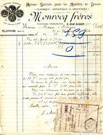 PARIS.MAISON SPECIALE POUR LES MODELES DE DESSIN,CLASSIQUE,ARTISTIQUE & INDUSTRIEL.MONROCQ FRERES 3 RUE SUGER. - Imprimerie & Papeterie