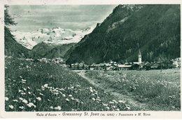 Valle D'Aosta - Gressoney St. Jean M., 1385 - Panorama E Monte Rosa - - Italia