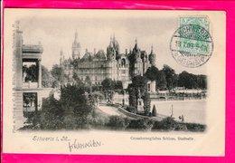 Cpa Carte Postale Ancienne  - Schwerin Grossherzogliches Schloss Stadtseite - Schwerin