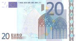 Portugal - M - 20 Euro - U017 EF5 -  - Trichet  -  ..2 SCANER - 20 Euro