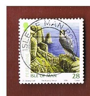 ISOLA DI MAN (ISLE OF MAN)  -   SG 1284  -   2006  BIRDS: FALCO PEREGRINUS    -   USED - Isle Of Man