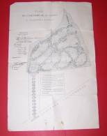 ANCIEN PLAN DU CIMETIERE DE ST SAINT GILLES A CALEVOET SOUS UCCLE, 3 AOUT 1914 - Documents Historiques