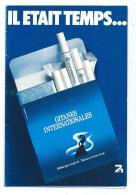 PETIT CALENDRIER 1977 PUB PUBLICITAIRE CIGARETTES GITANES INTERNATIONALES - Calendriers