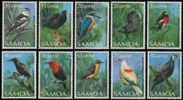Samoa 1988 - Mi-Nr. 649-658 ** - MNH - Vögel / Birds - American Samoa