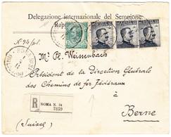 1911 R-Brief Aus Rom Nach Bern An Den Präsidenten Der SBB - 1900-44 Victor Emmanuel III.