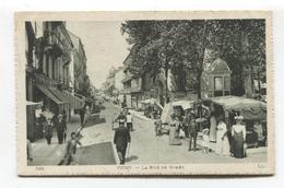 Vichy (03) - La Rue De Nimes, Marché, Market - CPA De 1912 - Vichy