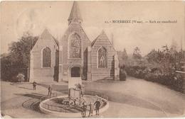 MOERBEKE WAAS Kerk En Standbeeld - Moerbeke-Waas