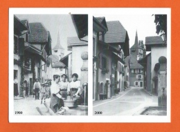Concise La Rive Vue En 1900 Et 2000 - Carte Moderne, Reproduction - VD Vaud