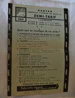 Ancien Formulaire Demande De Carte Demi Tarif SNCF Vieux Papier Chemins De Fer - Other