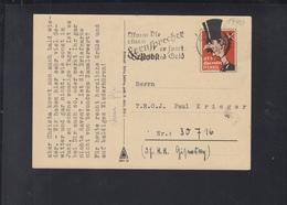 Dt. Reich Feldpost 1940 Propaganda Wert Keinen Pfennig - Briefe U. Dokumente