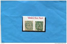 """varieté"" TYPE BLANC  5C -  N°111- Fond  Plein - Curiosities: 1900-20 Used"
